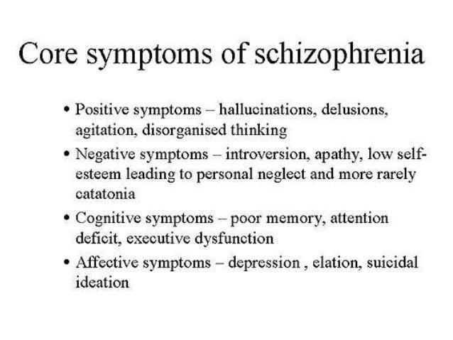 Short term and long term goals for paranoid schizophrenics