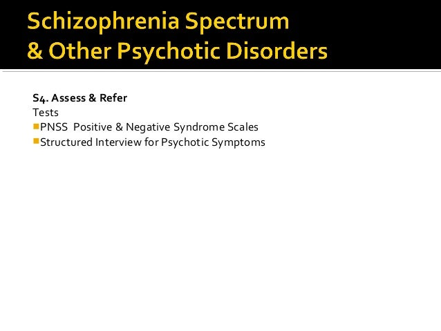 Schizophrenia Spectrum and Other Psychotic Disorders - Essay Example