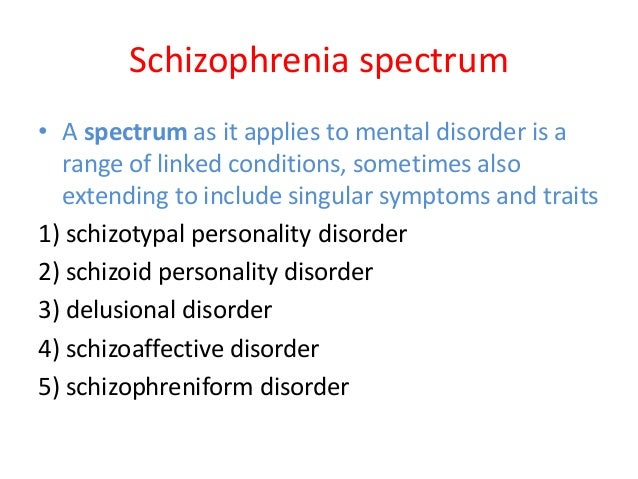 Schizophrenia spectrum disorder