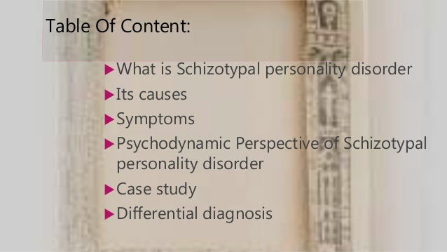Personality disorder case study