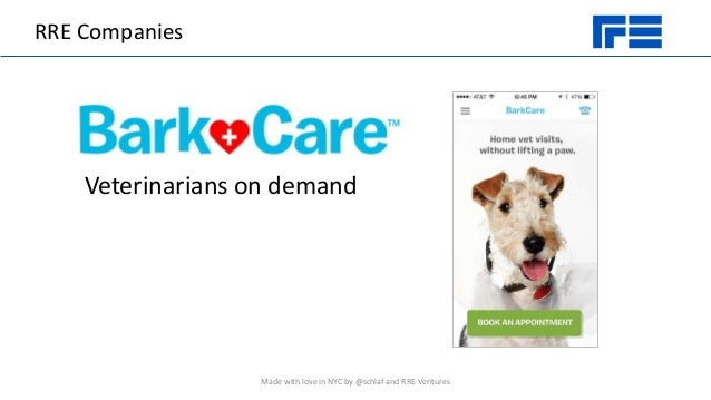 RRE Companies Veterinarians on demand Made with love in NYC by @schlaf and RRE Ventures