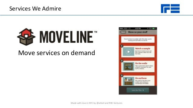 Services We Admire Move services on demand Made with love in NYC by @schlaf and RRE Ventures