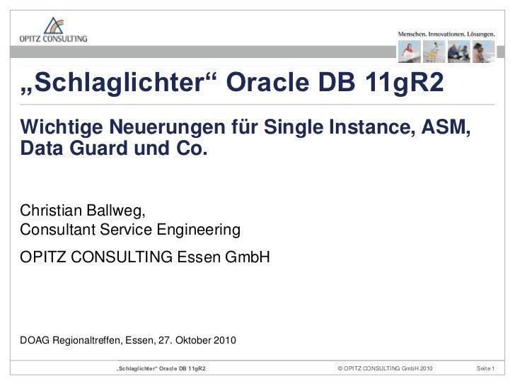 Christian Ballweg, Consultant Service Engineering<br />OPITZ CONSULTING Essen GmbH<br />Wichtige Neuerungen für Single Ins...