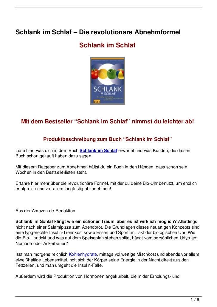 """Schlank im Schlaf – Die revolutionare Abnehmformel                                Schlank im Schlaf  Mit dem Bestseller """"S..."""
