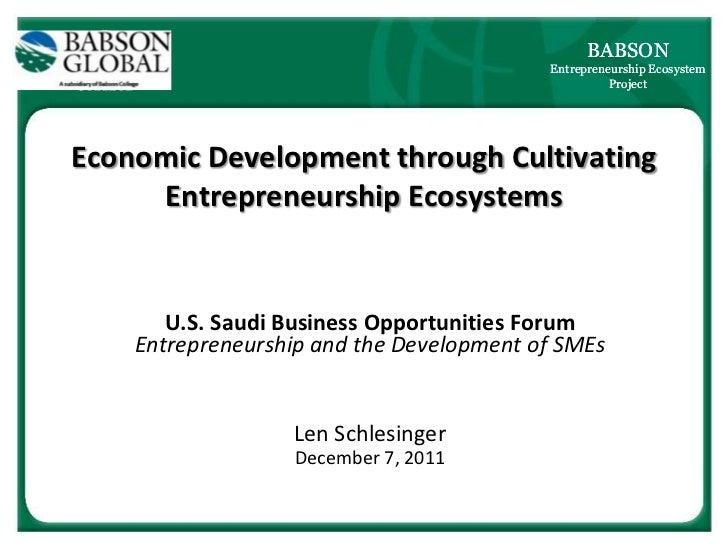 BABSON                                          Entrepreneurship Ecosystem                                                ...