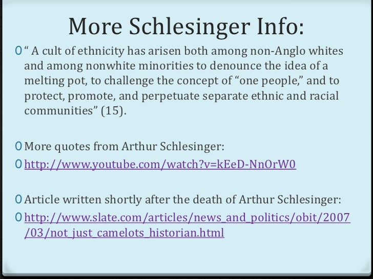 The cult of ethnicity schlesinger essay