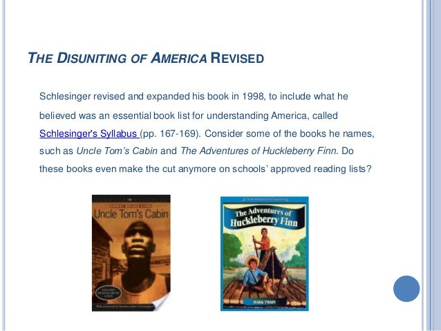 the disuniting of america: reflections on a multicultural society essay Buy the disuniting of america: reflections on a multicultural society revised and enlarged edition by arthur schlesinger (isbn: 9780393318548) from.