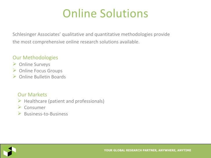 Schlesinger associates overview for Schlesinger associates