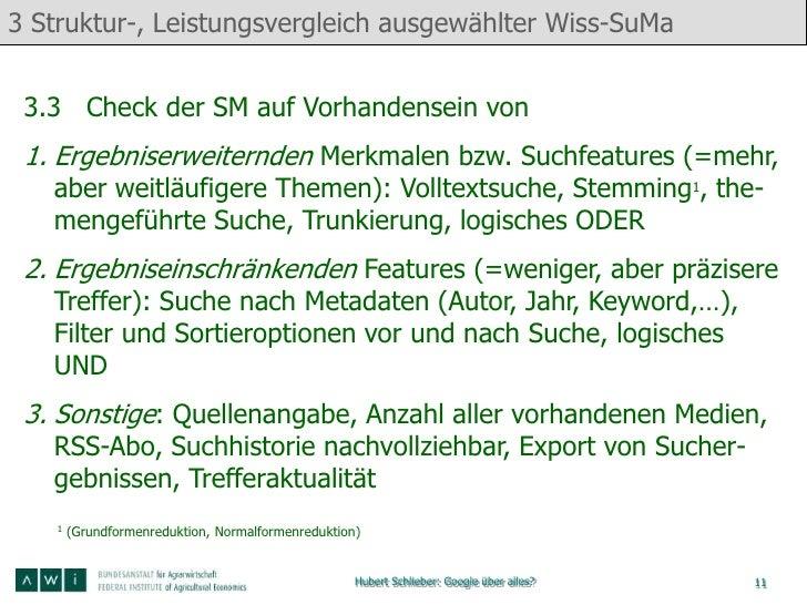 3 Struktur-, Leistungsvergleich ausgewählter Wiss-SuMa 3.3 Check der SM auf Vorhandensein von 1. Ergebniserweiternden Merk...