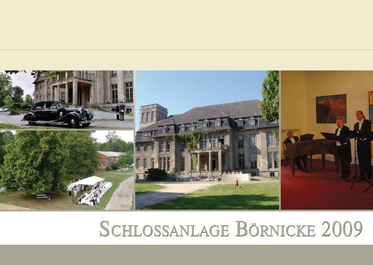 Schloss Boernicke Programm 2009