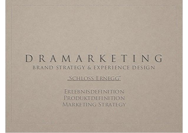 "D R A M A R K E T I N G BRAND STRATEGY & EXPERIENCE DESIGN ""Schloss Ernegg"" ! Erlebnisdefinition Produktdefinition Marketi..."