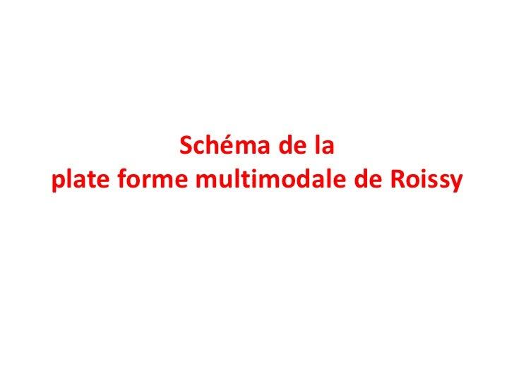 Schéma de laplate forme multimodale de Roissy