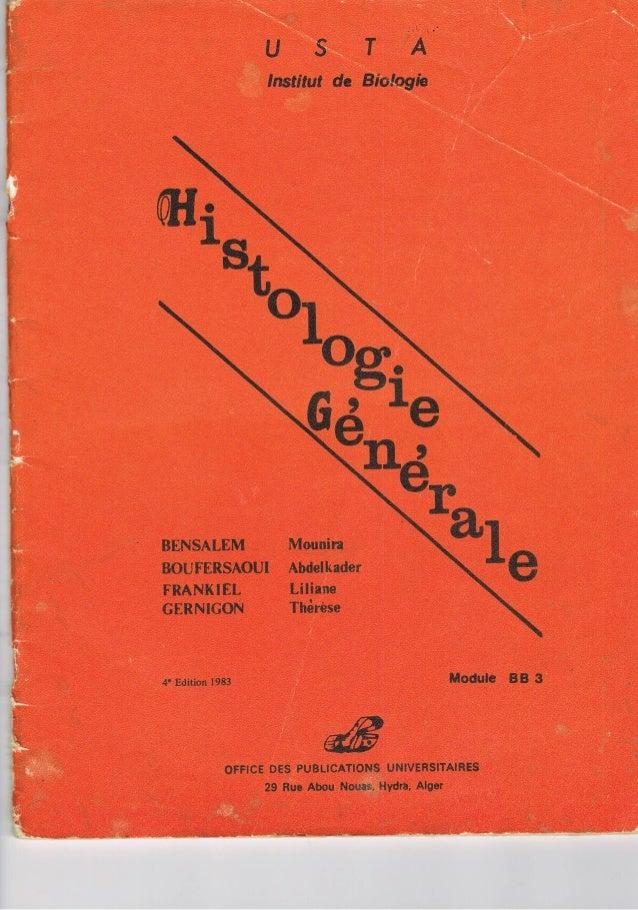 Schéma histologie