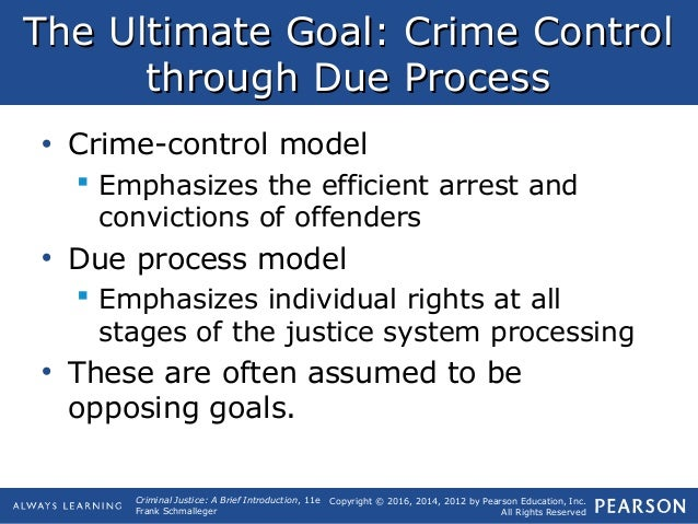 difference between crime control and due process