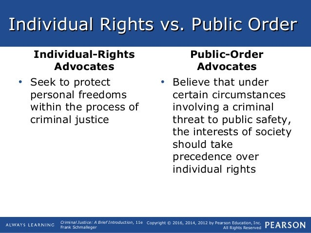 individual rights advocates public order Ask me help desk can anyone tell me what the difference between individual rights and public order is.