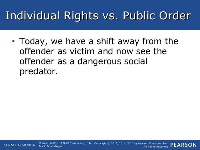 individual rights vs public order An order from a superior officer or a public authority may not be invoked as a   kept at bay by the effectiveness of our laws in upholding individual human rights.