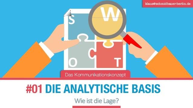 DIE ANALYTISCHE BASIS klaus@schmidbauer-berlin.de Das Kommunikationskonzept #01 Wie ist die Lage? S O T W