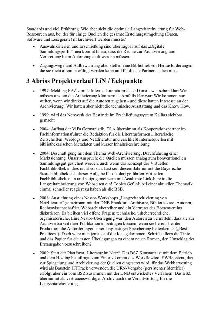 Schmidgall, Karin et al.: Bibliotheken in der Verantwortung: 'Literatur im Netz' authentisch archivieren und langfristig verfügbar machen Slide 2