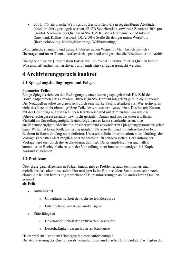 Schmidgall, Karin et al.: Bibliotheken in der Verantwortung: 'Literatur im Netz' authentisch archivieren und langfristig verfügbar machen Slide 3