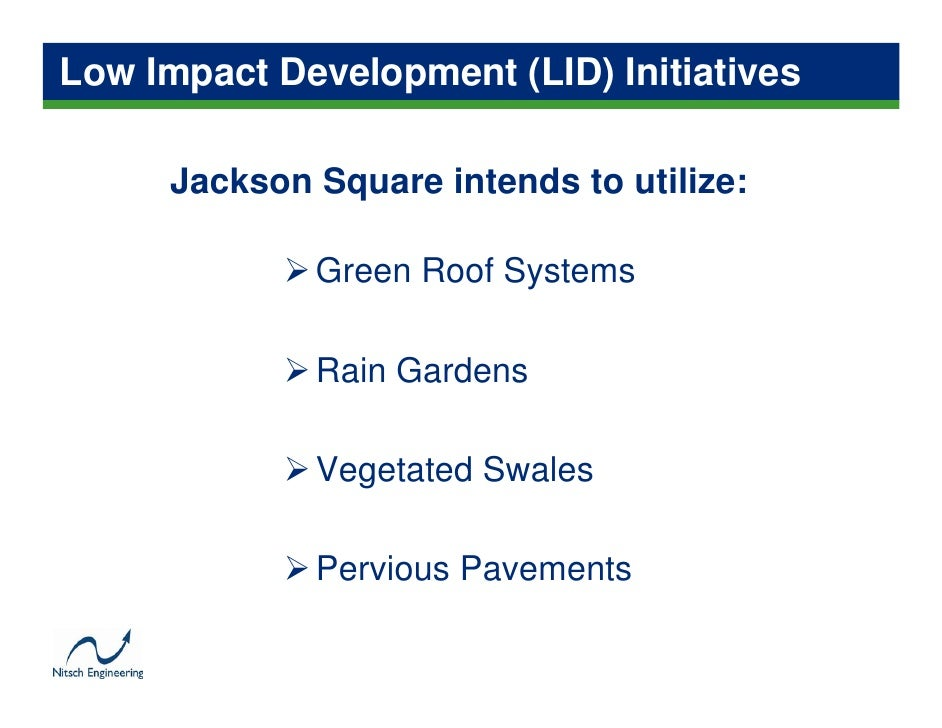 Low Impact Development Jackson Square Case Study