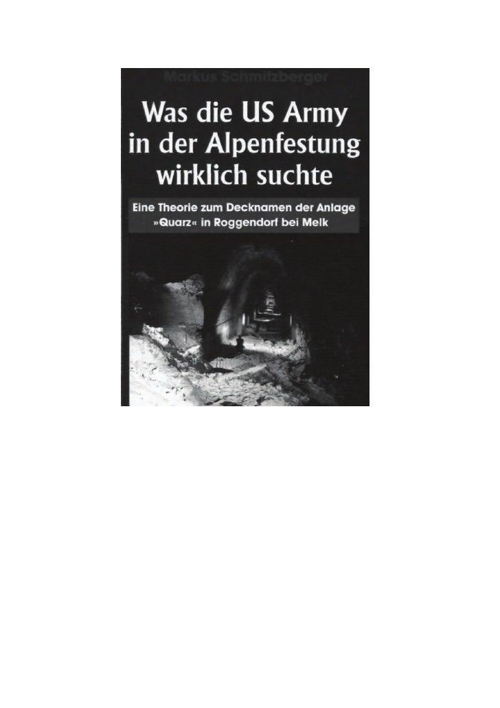 Die Alpenfestung gilt bis heute als ein Phantom, das gegen Ende des       Zweiten Weltkrieges von den amerikanischen Gehei...
