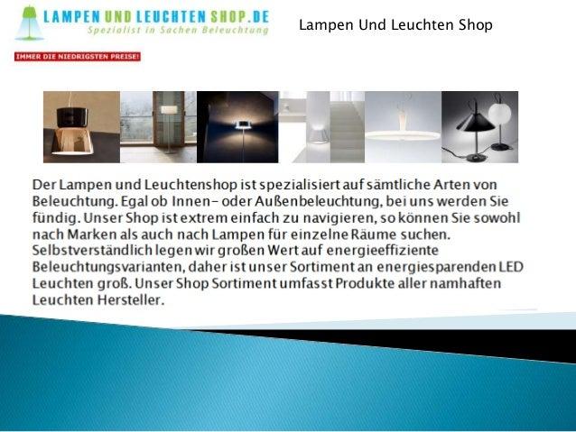 Lampen Und Leuchten Shop