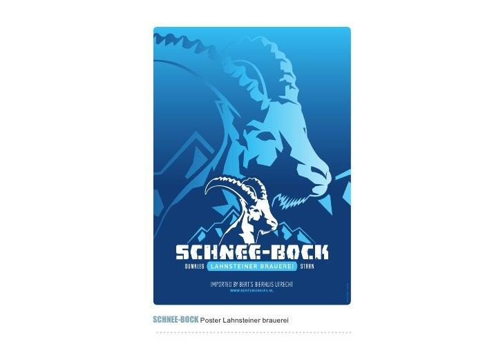 SCHNEE-BOCK Poster Lahnsteiner brauerei