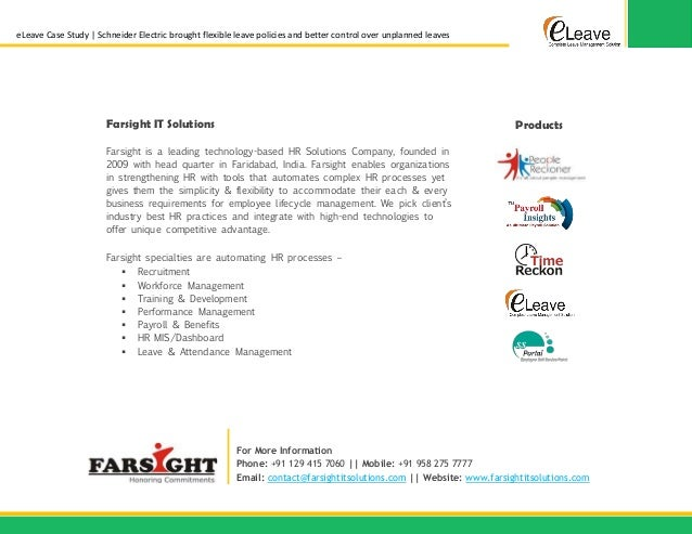 case study of any company in hr with solutions