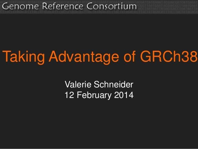 Taking Advantage of GRCh38 Valerie Schneider 12 February 2014