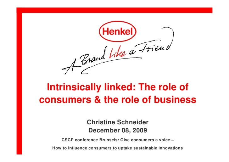 Intrinsically linked: The role of consumers and the role of business