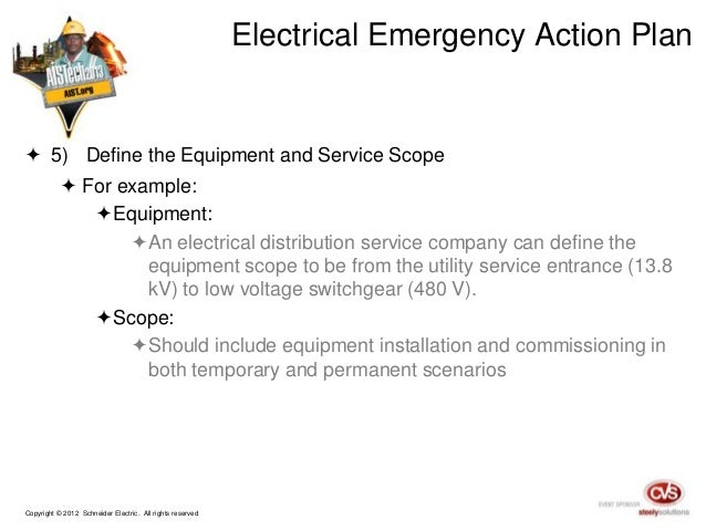 preparing your electrical system for disaster recovery rh slideshare net electrical emergency response plan