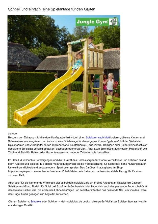 Schnell Und Einfach Eine Spielanlage Für Den Garten Spielturm Bequem Von  Zuhause Mit Hilfe Dem Konfigurator ...