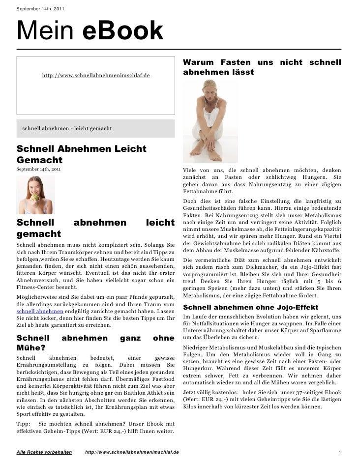 September 14th, 2011Mein eBook                                                                   Warum Fasten uns nicht sc...