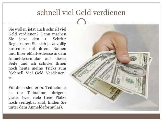Schnell viel geld verdienen Slide 3