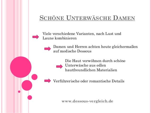 Schöne Unterwäsche Damen - Wissenswertes Rund um das Thema schöne Unterwäsche Damen Slide 3