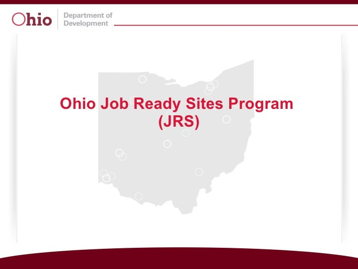 Ohio Job Ready Sites Program  (JRS)