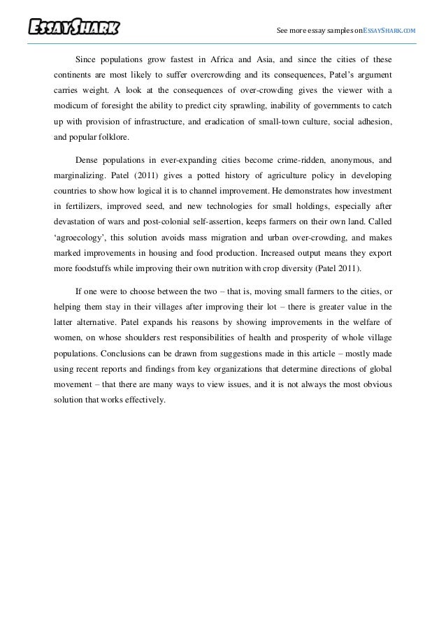 Scholarly Essay Sample