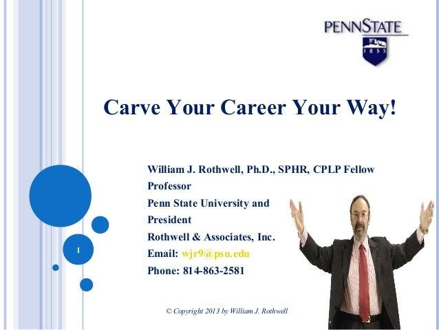 William J. Rothwell, Ph.D., SPHR, CPLP Fellow Professor Penn State University and President Rothwell & Associates, Inc. Em...