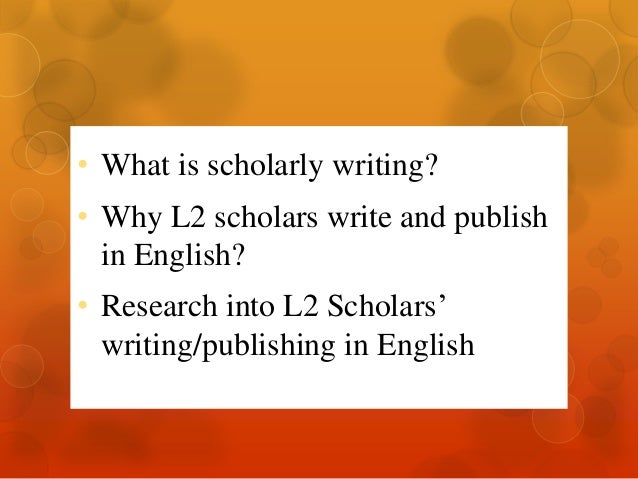 Writing a scholarly paper