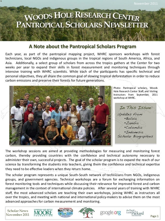 November2011                                                                              Photo: Pantropical scholars,...