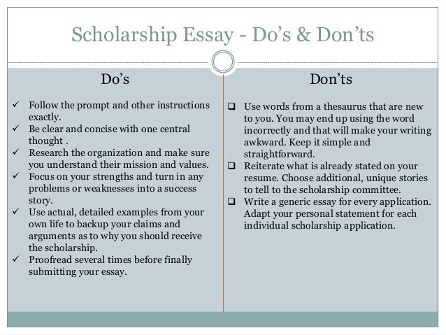 how to end a scholarship essay Tips for scholarship applications and personal essays about how to write a scholarship essay that will get the results that you want for many students end with what makes you the best candidate for the scholarship.