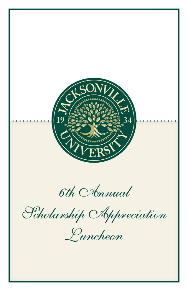 6th AnnualScholarship Appreciation       Luncheon