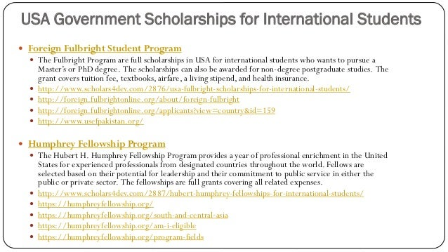 Scholarships and admissions