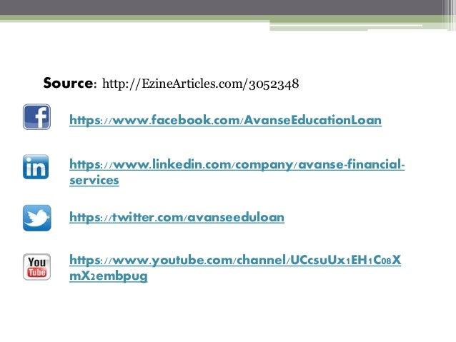 https://www.facebook.com/AvanseEducationLoan https://www.linkedin.com/company/avanse-financial- services https://twitter.c...