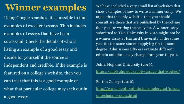 boston college common application essay