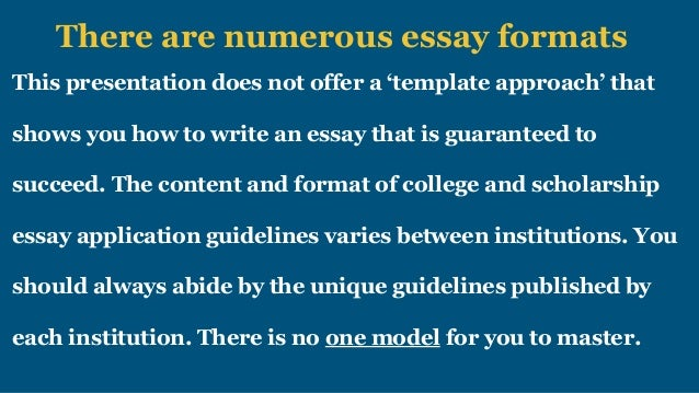 how to write a winner essay for college and scholarship applications   5 there are numerous essay formats