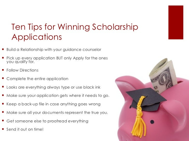 Scholarship Workshop 11 15 11