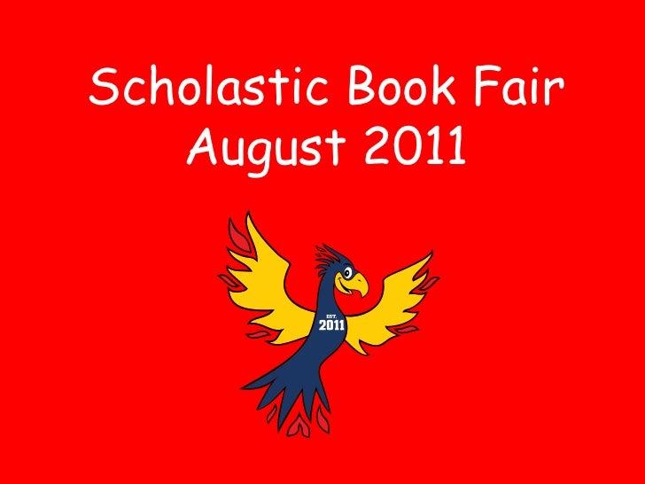 Scholastic Book Fair   August 2011