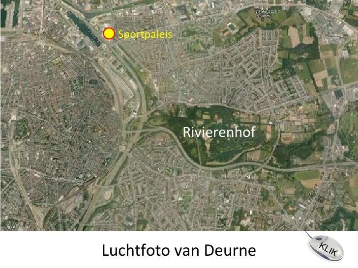 Luchtfoto van Deurne Sportpaleis Rivierenhof KLIK