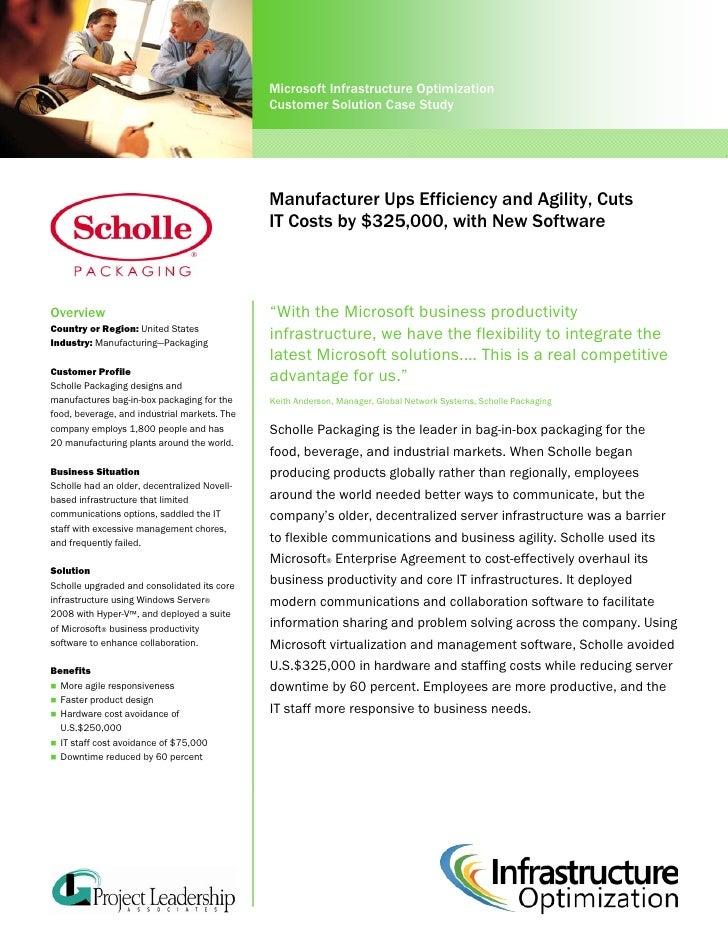 Microsoft Infrastructure Optimization                                               Customer Solution Case Study          ...